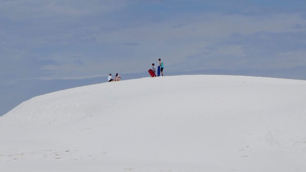 A dune at White Sands National Monument. Great for sledding. #WhiteSands