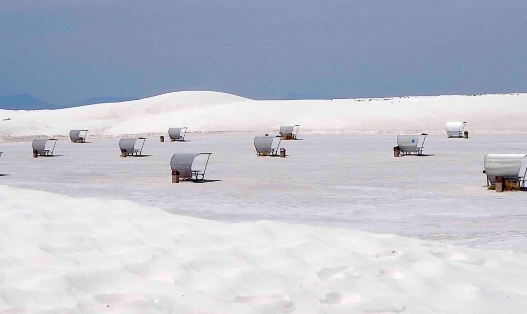 White Sands National Monument has a wonderful picnicking area equipped with elevated grills.