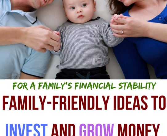 The post discusses some family friendly ideas to invest and grow money. #StockMarket #Robinhood #Stocks #Investment #Money