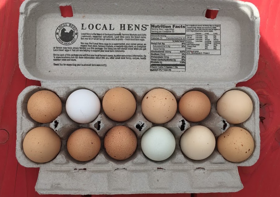 Eggs we purchased. Notice the authenticity by different colrs !