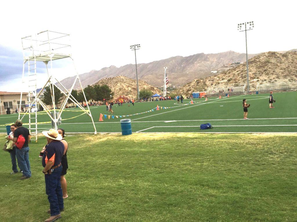 The University (Soccer) Field on the day of the Splish 'n' Splash event.