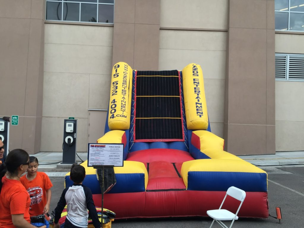The Velcro wall was more intimidating than I expected.
