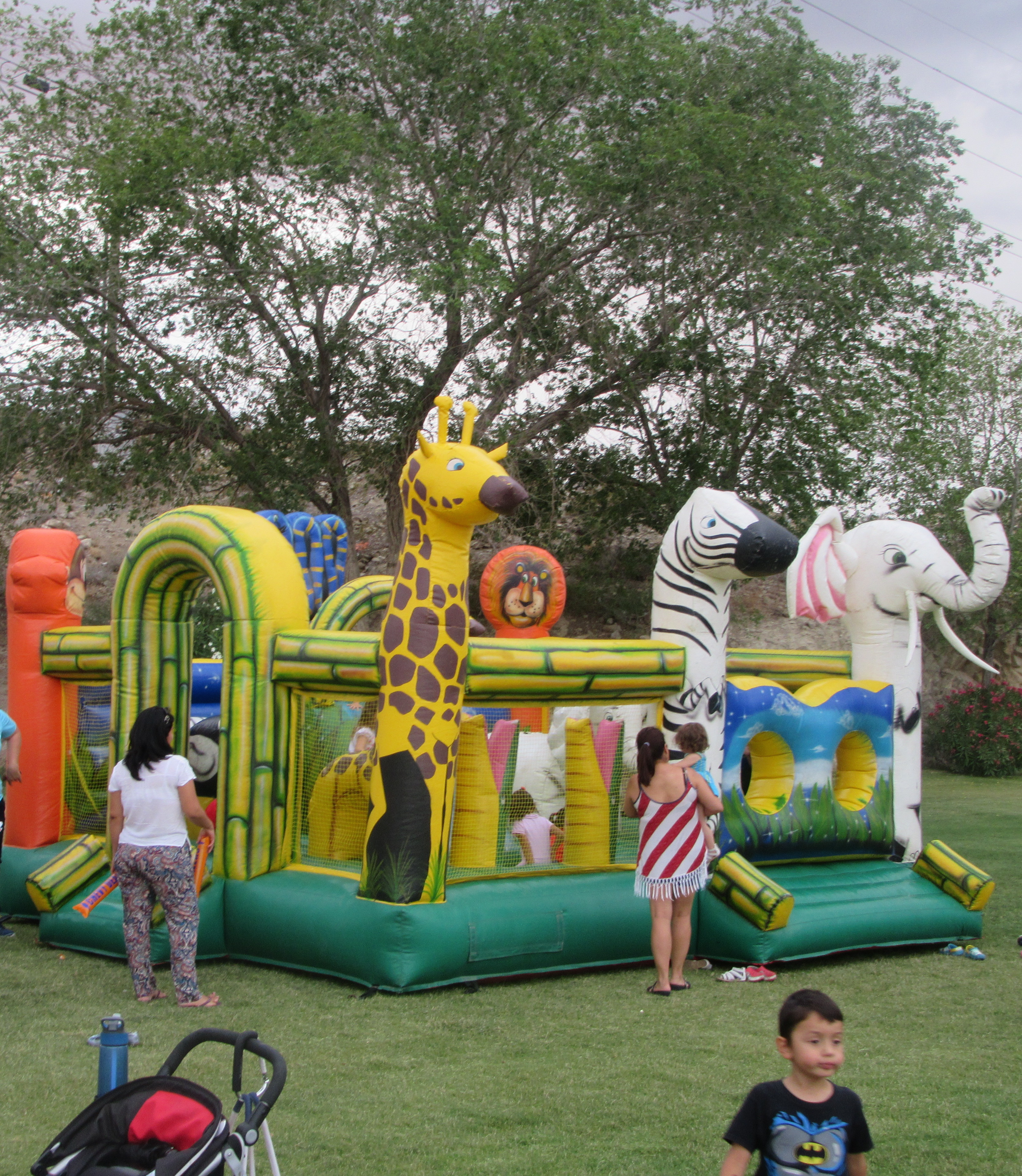 A large bounce house.