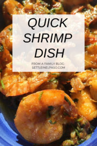 A quick shrimp dish recipe. Great for dinner. #recipes
