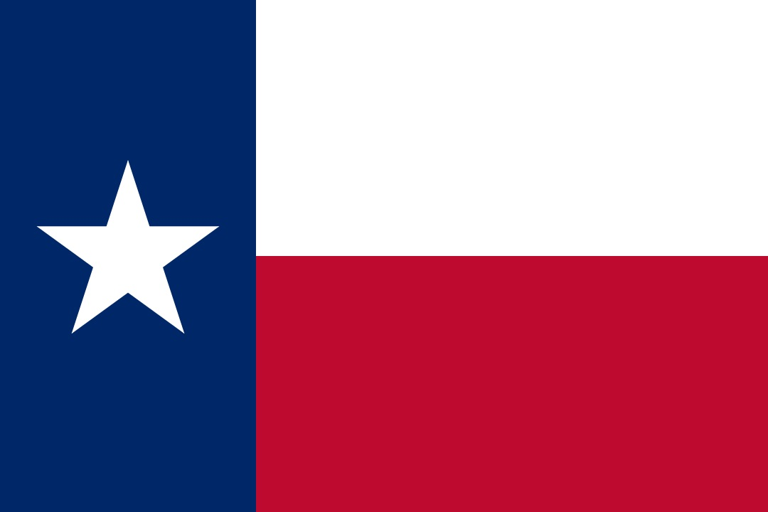The flag of Lone Star State, Texas today.