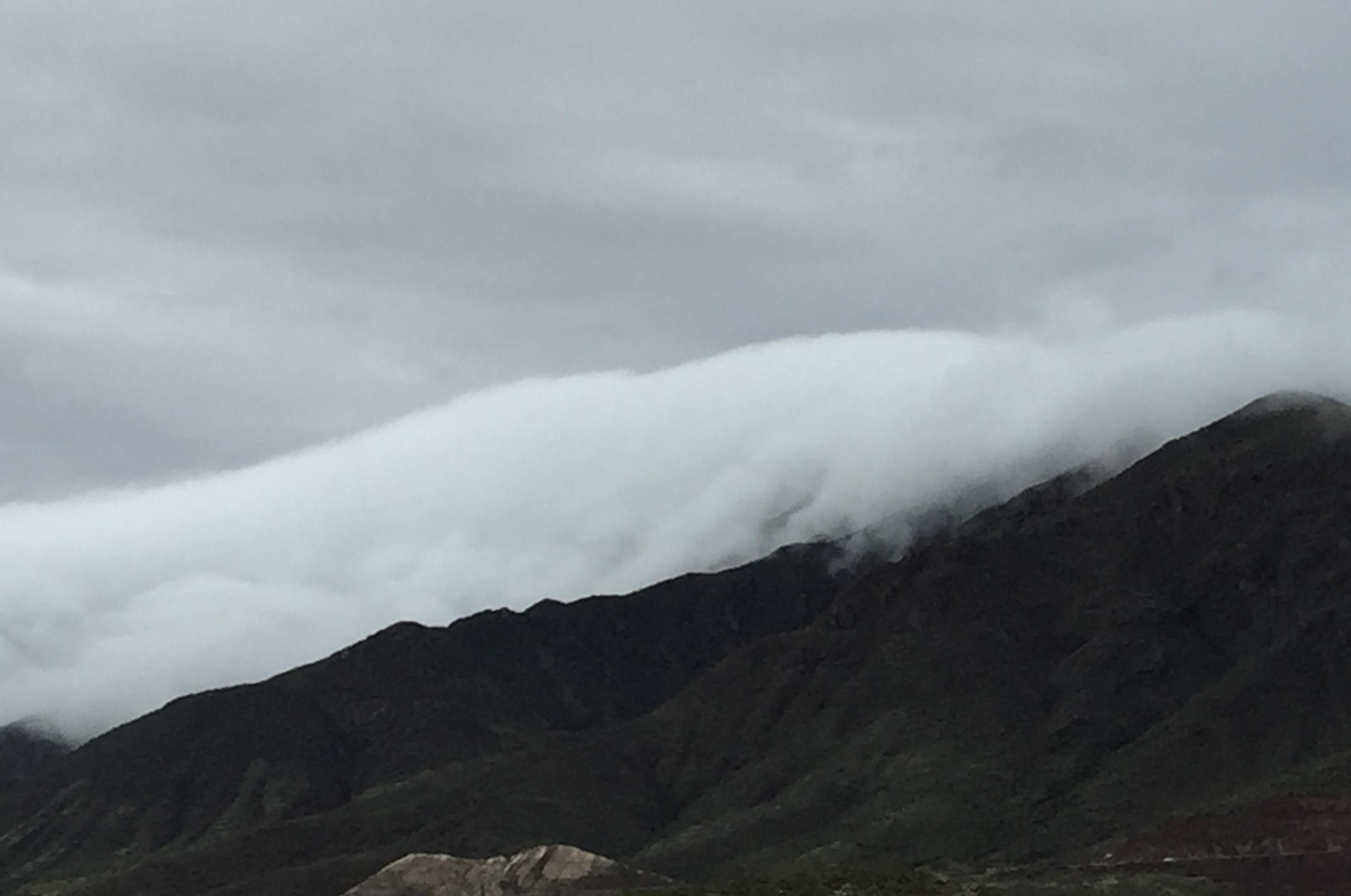 Franklin mountain on that rainy day.
