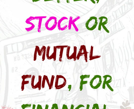 A stock or a mutual fund --- which one is better? #investment #money #moneysaving #moneymaking #financialplanning