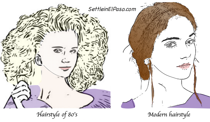 Hairstyle of good old days and present days.