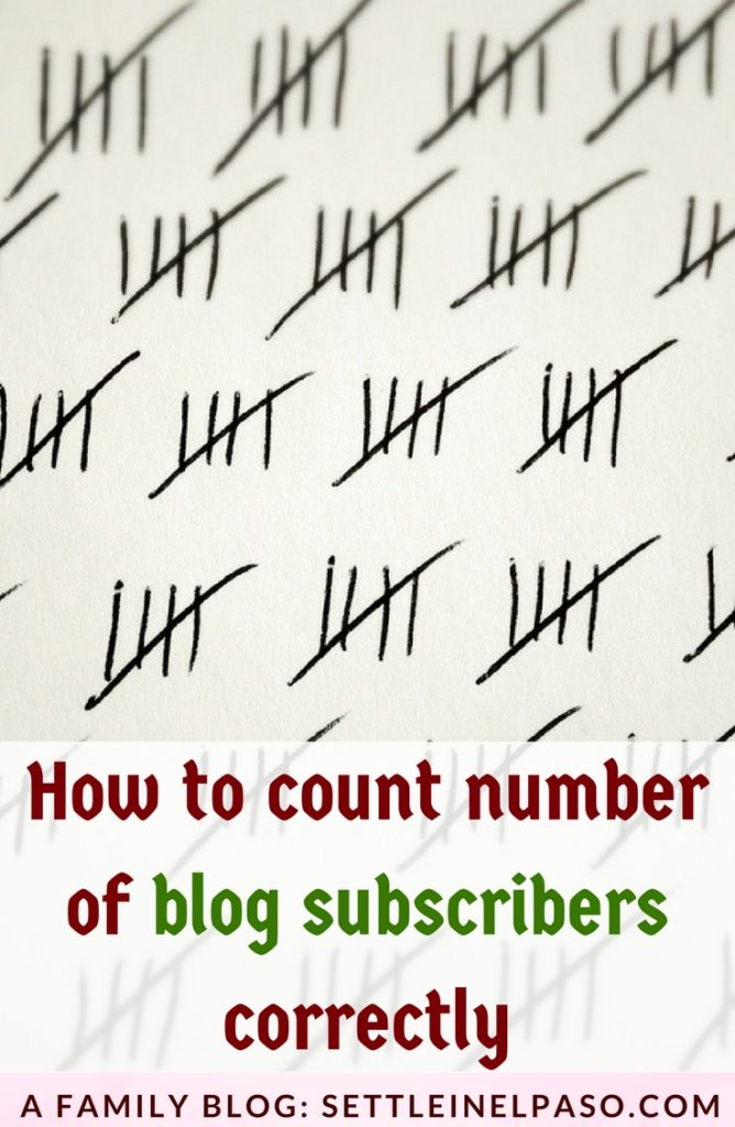 The correct count of subscribers is sometimes crucial for blogger who invest time, energy, and money in growing a business. This post describes how to count blog subscribers correctly.  #subscribers #blogging #moneyblogging