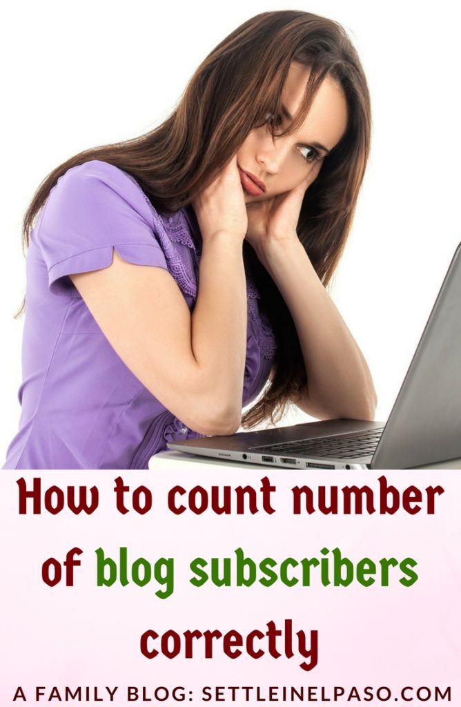 Knowing the correct number subscribers is sometime crucial for bloggers running a business. #blogging #subscribers #moneyblogging
