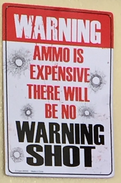 There will be no warning shot.