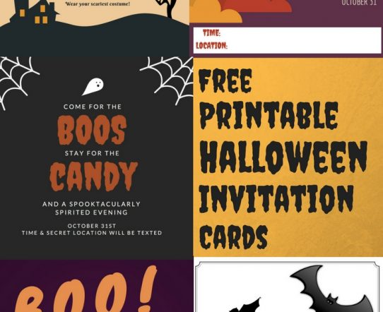 Free halloween invitation cards for any year