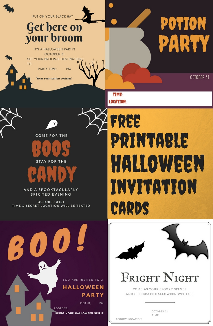 graphic regarding Free Printable Halloween Invitations for Adults referred to as No cost printable halloween invitation playing cards A Family members Weblog
