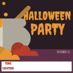 Potion party. Halloween invitation card.