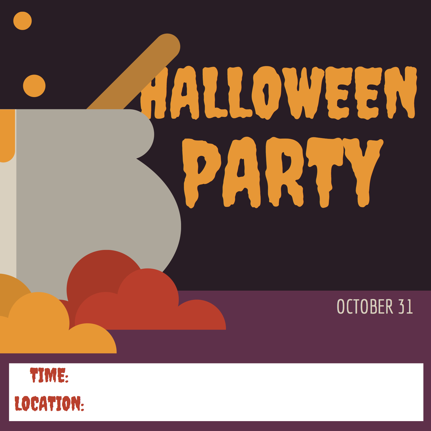 Free printable halloween invitation cards — Settle in El Paso