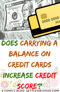 Does carrying a balance on credit cards improve credit score? #creditscore #creditcard #frugal #saving