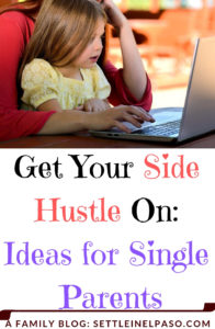 Being a full-time single parent is hard. Pair this with the fact that kids cost money, and you may find that you could use a side hustle to bring in some extra cash. #sidehustle #money #moneymaking #family