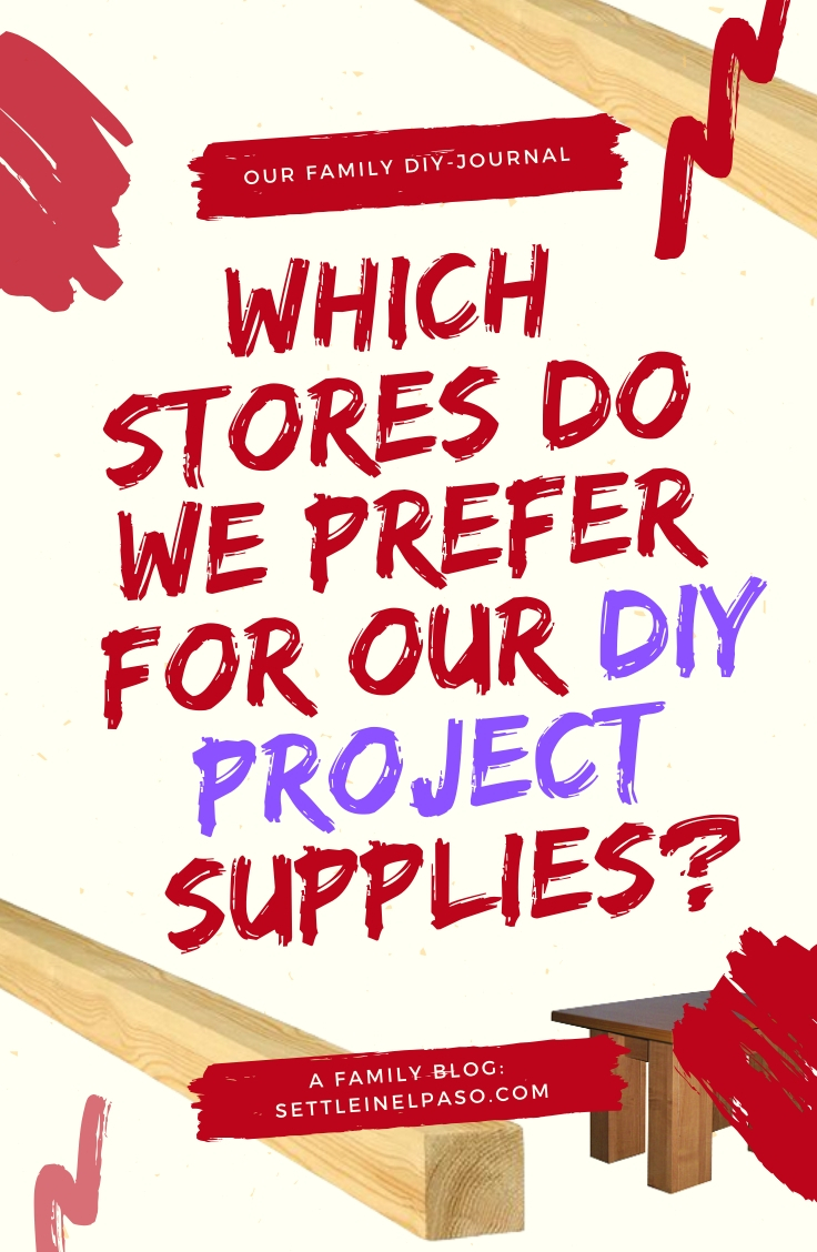 Which store --- Lowe's or Home Depot --- do we prefer for our DIY project supplies? #diy #lowes #homedepot #diyproject