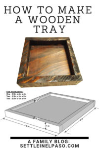 Wooden tray DIY. Woodworking is fun. The post contains the design of a wooden tray. It also describes our experience on the building process. #woodworking #woodwork #woodentray #diy #homedecordiy