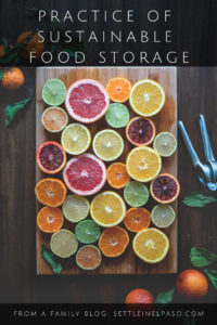 Practice of sustainable food storage. #sustainability