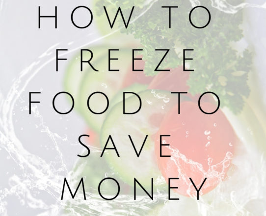 How to freeze food to save money. Freezing food can save a lot of money. Additionally, it cuts down on waste. #freezing #food #moneysaving #frugal #foodbehavior #frudalliving