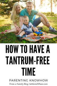 Having a tantrum-free time requires planning. The article contain tips to calm down a child when there are signs of tantrum. #parenting How to calm down a child
