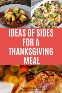 Ideas of sides for a Thanksgiving meal. #ThanksGiving #SidesRecipe #Recipes