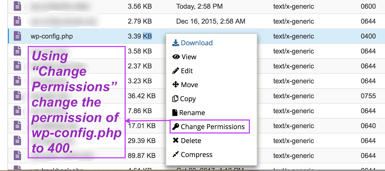 Changing access permission of a file. #ChangePermission