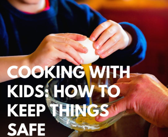 Cooking with kids is a great way to help them learn independence, responsibility, and even school-related skills like math and science. Many children love being in the kitchen, especially during holidays when there are so many fun things to bake. However, it's important to remember that young ones may not know kitchen safety. #safety #parenting #cooking #kids