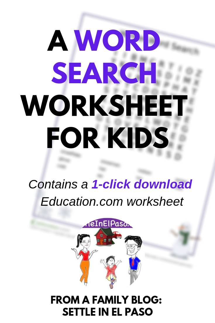 The article provides a 1-click download of an Education.com worksheet. #education #wordsearch #childdevelopment #forkids #kids #children #educationdotcom