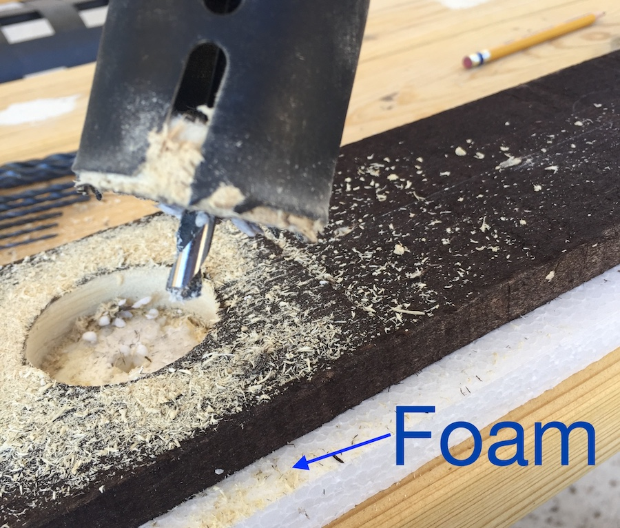 Put a foam to protect the workbench