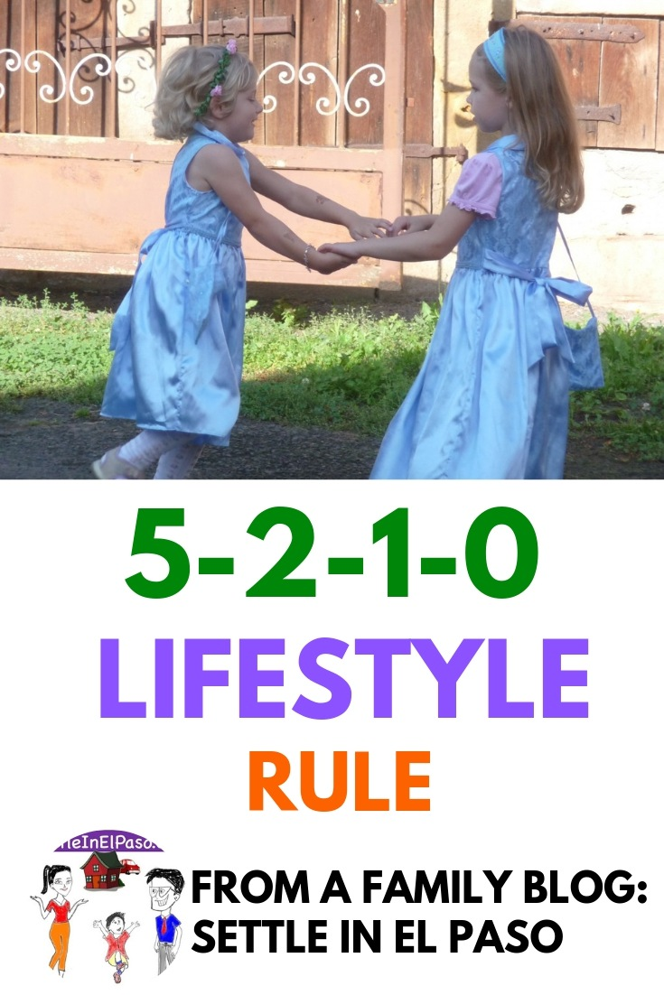 5-2-1-0 Rule for healthy lifestyle. The rule ensure active life with healthy food habits. #family #children #health #healthy #lifestyle #kids