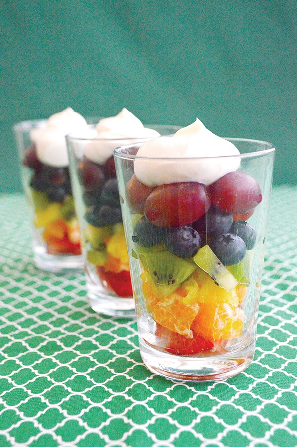 Rainbow Fruit Parfait Recipe. A fruit treat for both children and grownups. The Parfait is full of vitamins, minerals, and fibers. #Recipes  #fruitrecipe #fruits #FruitParfaits